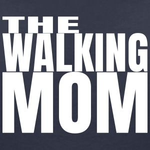 THE WALKING MOM10 T-Shirts - Frauen T-Shirt mit V-Ausschnitt