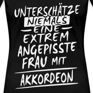 ANGEPISSTE - AKKORDEON Shirt Damen - Frauen Premium T-Shirt