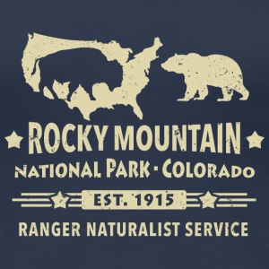 Rocky Mountain Nationalpark Berge Bison Grizzly - Frauen Premium T-Shirt