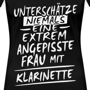 Angepisst - Klarinette Shirt Damen - Frauen Premium T-Shirt