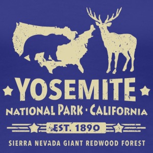 Yosemite National Park California Bär Redwood - Frauen Premium T-Shirt