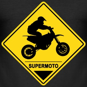 Supermoto Road Sign T-Shirts - Men's Slim Fit T-Shirt