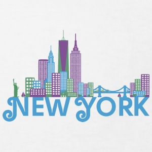 Bunte Skyline von New York Shirts - Kinderen Bio-T-shirt