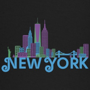 Bunte Skyline von New York Baby Long Sleeve Shirts - Baby Long Sleeve T-Shirt