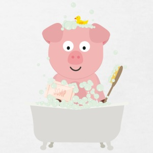Pig in bath with bubbles Shirts - Kids' Organic T-shirt