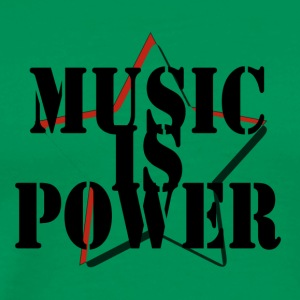 Music is Power - Männer Premium T-Shirt