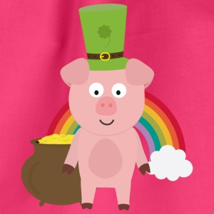Pork with Patrick's day Hat Bags & Backpacks - Drawstring Bag