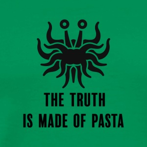 The truth is made of pasta, without stroke - Mannen Premium T-shirt