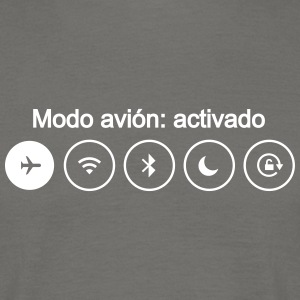 modo avion airplane mode smartphone movil - Camiseta hombre