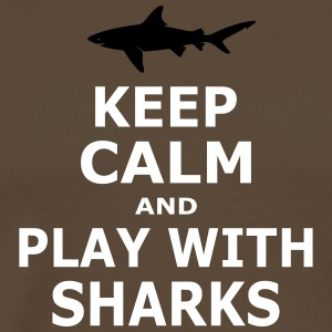 KEEP CALM AND PLAY WITH SHARKS - simple - Männer Premium T-Shirt