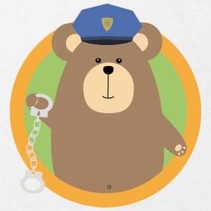 Officer Grizzly with handcuffs in the district Shirts - Kids' Organic T-shirt