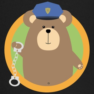 Officer Grizzly met handboeien in de wijk baby shirts met lange mouwen - T-shirt