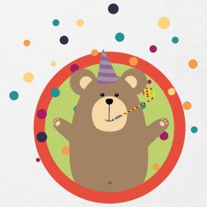Party bear with patches in circle Shirts - Kids' Organic T-shirt