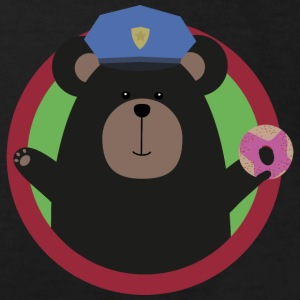 Policeman Grizzly with a pink donut Shirts - Kids' Organic T-shirt