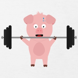 Fitness pig with weights Shirts - Kids' Organic T-shirt
