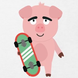 Skateboard pig with boards Shirts - Kids' Organic T-shirt