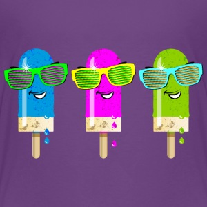 Eis am Stiel Sonnenbrille ice cream Sommer be cool - Kinder Premium T-Shirt