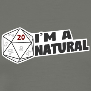 """I'm A Natural 20"" - Men's Premium T-Shirt"