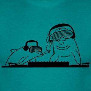 Smoking kiffen kiffer duo team 2 friends dj party  T-Shirts - Men's T-Shirt