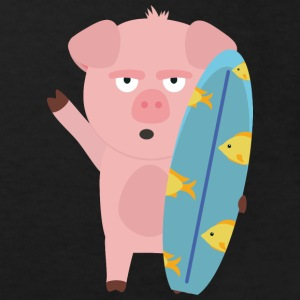 Surfin' pig with surfboard Shirts - Kids' Organic T-shirt