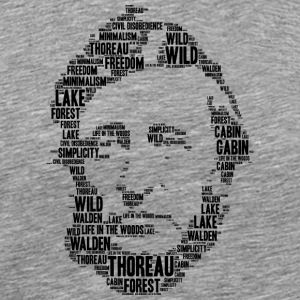 thoreau stencil word cloud - Men's Premium T-Shirt