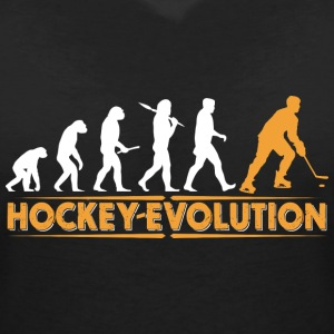 Hockey Evolution - orange/weiss T-shirts - Vrouwen T-shirt met V-hals