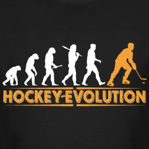 Hockey Evolution - orange/weiss T-Shirts - Männer Bio-T-Shirt