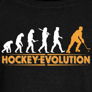 Hockey Evolution - orange/weiss Hoodies & Sweatshirts - Women's Boat Neck Long Sleeve Top