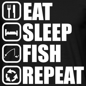 EAT SLEEP FISH angelhaken, angeln, angler - Männer T-Shirt