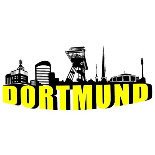 Dortmund Skyline in Schwarz Gelb