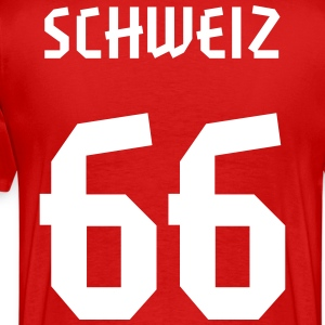 66 Switzerland Football 2014, Pelibol ™ T-Shirts - Männer Premium T-Shirt