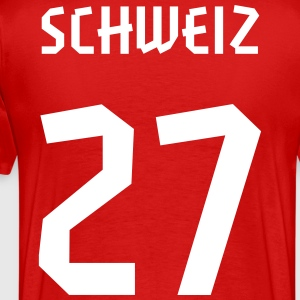 27 Switzerland Football 2014, Pelibol ™ T-Shirts - Männer Premium T-Shirt