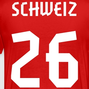 26 Switzerland Football 2014, Pelibol ™ T-Shirts - Männer Premium T-Shirt