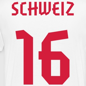 16 Switzerland Football 2014, Pelibol ™ T-Shirts - Männer Premium T-Shirt