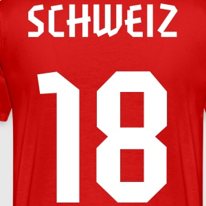 18 Switzerland Football 2014, Pelibol ™ T-Shirts - Männer Premium T-Shirt