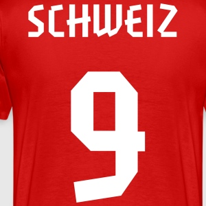 9 Switzerland Football 2014, Pelibol ™ T-Shirts - Männer Premium T-Shirt