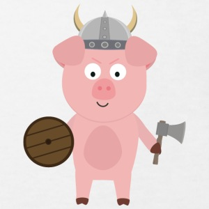 Viking pig with helmet Shirts - Kids' Organic T-shirt