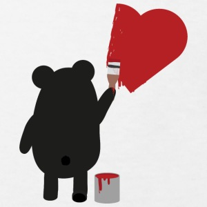 Black bear painting heart Shirts - Kids' Organic T-shirt