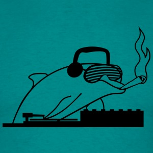 Dj, headphones, joint, smoking, drugs, kiffen, coo T-Shirts - Men's T-Shirt