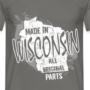 Made in Wisconsin all original parts  - Men's T-Shirt