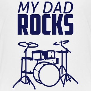 my dad rocks Shirts - Kinderen Premium T-shirt
