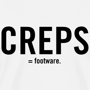 Creps - Mens White Tee - Men's Premium T-Shirt