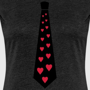 Heart Love Partner Tie T-Shirts - Women's Premium T-Shirt