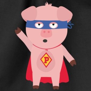 Super Hero-pig Bags & Backpacks - Drawstring Bag