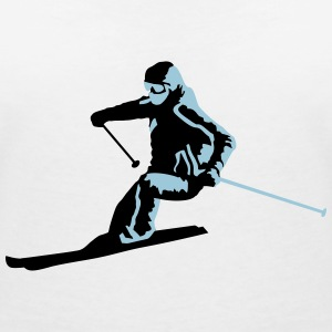 skiing, skier T-Shirts - Women's V-Neck T-Shirt