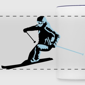 skiing, skier Mugs & Drinkware - Panoramic Mug