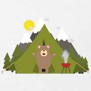 Brown bear, camping Shirts - Kids' Organic T-shirt