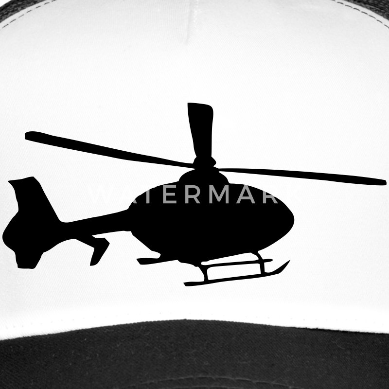 Helicopter Caps & Hats - Trucker Cap