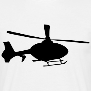helikopter, T-shirts - T-shirt herr