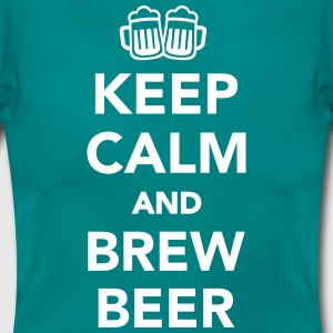 Keep calm and brew beer T-Shirts - Frauen T-Shirt